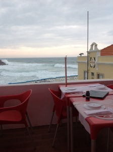 We had lunch in this perfect location, and tried caldeirada, a fish stew with mussels, clams, shrimp, sea bass. Tons of them. Delicious!