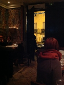 Very dark picture, because it was a very dark, very small, very cool restaurant.