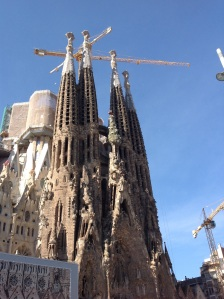 The Sagrada Familia is a huge unfinished church in Barcelona. They're actively working to get the outside done by 2026, the 100th anniversary of Gaudi's death.